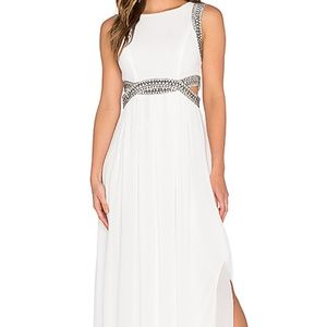 TFNC Lightweight Chiffon Maxi Embellished Dress L